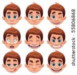boy expressions. funny cartoon...