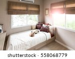 beautiful room interior with... | Shutterstock . vector #558068779