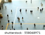 walking people and crowd  | Shutterstock . vector #558068971