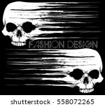 skull t shirt graphic design | Shutterstock .eps vector #558072265