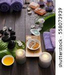 spa treatment and aromatherapy... | Shutterstock . vector #558073939