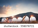 natural gas tank in the... | Shutterstock . vector #558078721