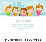 children design with city... | Shutterstock .eps vector #558079561