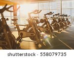 modern gym interior with... | Shutterstock . vector #558079735