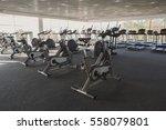 modern gym interior with... | Shutterstock . vector #558079801