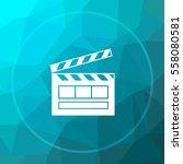 movie icon. movie website... | Shutterstock . vector #558080581