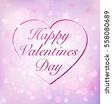 valentine's day card with the... | Shutterstock .eps vector #558080689