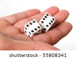 A pair of dices on double sixes - stock photo