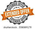 extended offer. stamp. sticker. ... | Shutterstock .eps vector #558089179