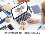 gears and change management... | Shutterstock . vector #558090169
