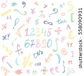 colorful hand drawn doodle... | Shutterstock .eps vector #558090931