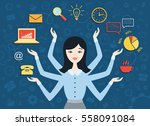 vector illustration of young... | Shutterstock .eps vector #558091084