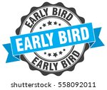 early bird. stamp. sticker.... | Shutterstock .eps vector #558092011