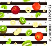 seamless vector pattern of ripe ...   Shutterstock .eps vector #558092431