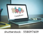 gears and compliance mechanism... | Shutterstock . vector #558097609