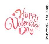 happy valentine's day words...   Shutterstock .eps vector #558100084