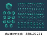 futuristic progress loading bar.... | Shutterstock . vector #558103231