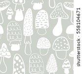 kids and baby modern mushroom...   Shutterstock .eps vector #558104671