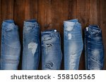 Five Different Blue Denim Jean...