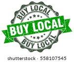 buy local. stamp. sticker. seal.... | Shutterstock .eps vector #558107545