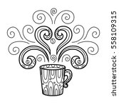 coffee mug with abstract style... | Shutterstock . vector #558109315