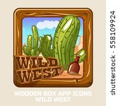 square wooden box wild west ...