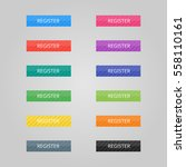 set of colored buttons. web... | Shutterstock .eps vector #558110161