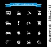 white car wash icon set   16... | Shutterstock .eps vector #558112465