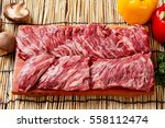 beef thin skirt  roast beef... | Shutterstock . vector #558112474