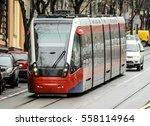 modern city tramway | Shutterstock . vector #558114964
