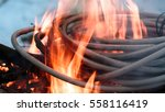 wires on fire. firing winding... | Shutterstock . vector #558116419