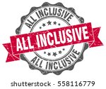 all inclusive. stamp. sticker.... | Shutterstock .eps vector #558116779