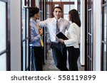 indonesian co workers  men and...   Shutterstock . vector #558119899