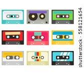 cassette tape collection   Shutterstock .eps vector #558121654