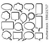 Comic Outline Speech Bubble...