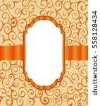 vintage frame background... | Shutterstock .eps vector #558128434