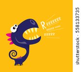 vector cartoon funny dragon....   Shutterstock .eps vector #558133735