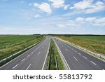 Four Lane Motorway Leads Acros...
