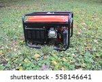 gasoline portable generator.... | Shutterstock . vector #558146641
