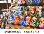 traditional russian colourful... | Shutterstock . vector #558156715