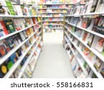 blurred shop background in book ... | Shutterstock . vector #558166831