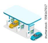 isometric flat 3d concept... | Shutterstock .eps vector #558167017
