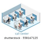 isometric flat 3d isolated... | Shutterstock .eps vector #558167125
