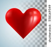 red heart on transparent... | Shutterstock .eps vector #558169549