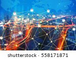smart city and wireless... | Shutterstock . vector #558171871