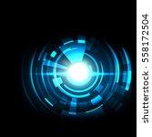 futuristic technology hud... | Shutterstock .eps vector #558172504