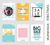 sale website banners web... | Shutterstock .eps vector #558175651