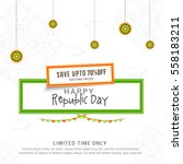 creative sale banner or sale... | Shutterstock .eps vector #558183211