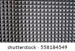 Small photo of sound absorbing materials. microfiber insulation of noise in music Studio, sound insulation