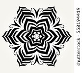 ornate doodle round rosette in...   Shutterstock .eps vector #558194419